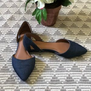 Shoes flat demin size 8